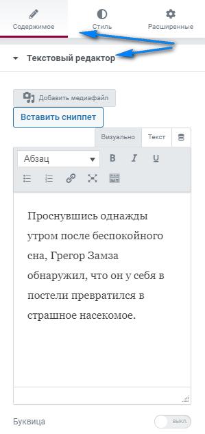 kak dobavit ssylku v tekstovyj vidzhet elementor 002